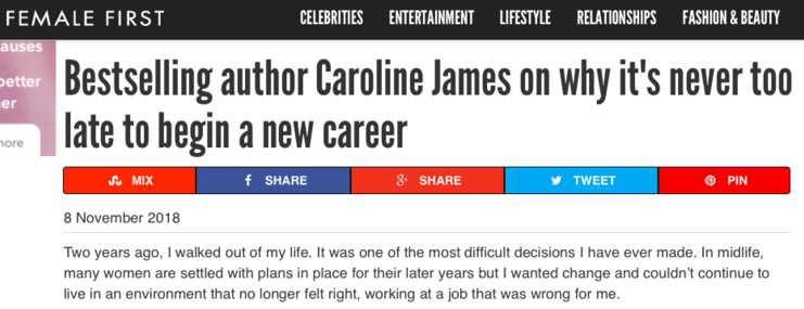 Caroline writes for Female First